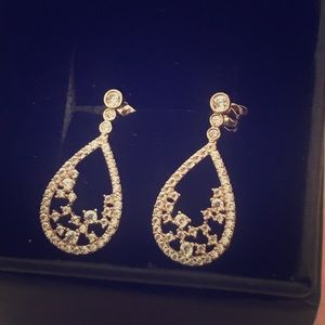 14 KT Gold Earrings with CZ Stunning!!